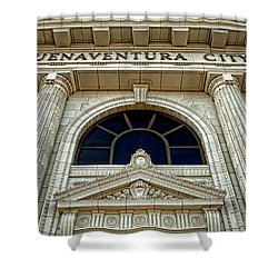 Shower Curtain featuring the photograph San Buenaventura City Hall by John A Rodriguez