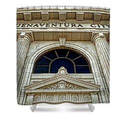 San Buenaventura City Hall Shower Curtain by John A Rodriguez