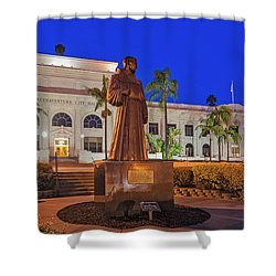 Shower Curtain featuring the photograph San Buenaventura City Hall by Susan Candelario