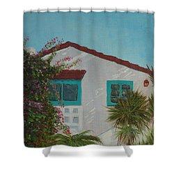 San Clemente Art Supply Shower Curtain