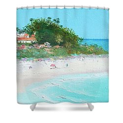 San Clemente Beach Panorama Shower Curtain