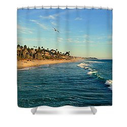 Shower Curtain featuring the photograph San Clemente Coastline - California by Glenn McCarthy Art and Photography