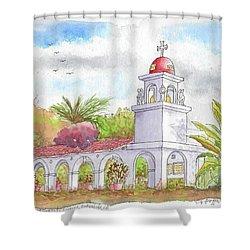 San Clemente Mission Parish, Bakersfield, California Shower Curtain