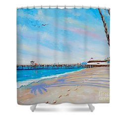 San Clemente Walk Shower Curtain