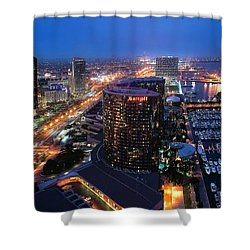 San Diego Bay Shower Curtain
