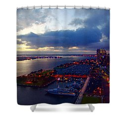 San Diego By Night Shower Curtain