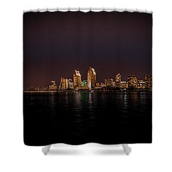 Shower Curtain featuring the photograph San Diego Harbor by John Johnson