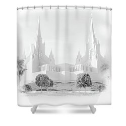 Shower Curtain featuring the photograph San Diego Lds Temple by Marie Leslie
