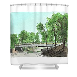 San Diego Recruit Depot Welcome Shower Curtain