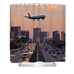 San Diego Rush Hour  Shower Curtain by Sam Antonio Photography