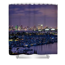San Diego Skyline 4 Shower Curtain