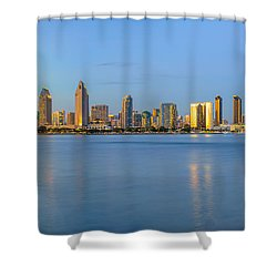 San Diego Skyline At Dusk Shower Curtain