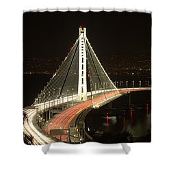 San Francisco Bay Bridge New East Span Shower Curtain