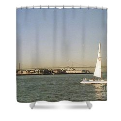 San Francisco Bay Sail Boat Shower Curtain