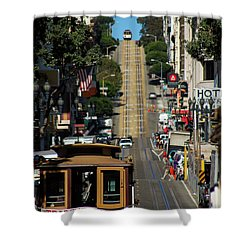 San Francisco Cable Cars Shower Curtain