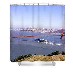 Shower Curtain featuring the photograph San Francisco - City By The Bay by Art Block Collections