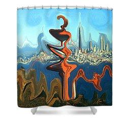 San Francisco Earthquake - Modern Art Shower Curtain