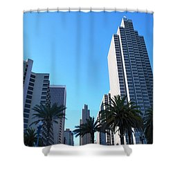 San Francisco Embarcadero Center Shower Curtain by Matt Harang