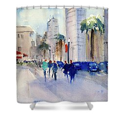 San Francisco Embarcadero1 Shower Curtain by Tom Simmons