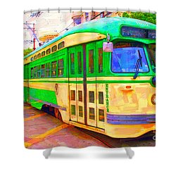 San Francisco F-line Trolley Shower Curtain
