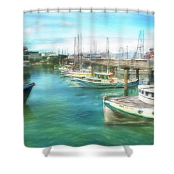 San Francisco Fishing Boats Shower Curtain