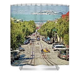 San Francisco Hyde Street View Shower Curtain