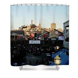 San Francisco In The Sun Shower Curtain by Tony Mathews