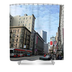 San Francisco - Jessie Street View Shower Curtain by Matt Harang