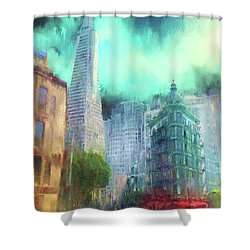 San Francisco Shower Curtain by Michael Cleere