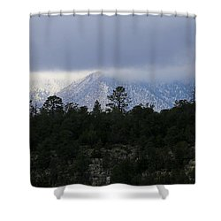 San Francisco Mountains From Walnut Canyon Shower Curtain