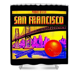 San Francisco Oranges Shower Curtain by Peter Gumaer Ogden