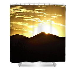 San Francisco Peaks At Sunset Shower Curtain