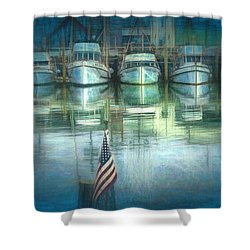 San Francisco Pier Shower Curtain