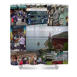 Shower Curtain featuring the photograph San Francisco Poster by Joan Reese