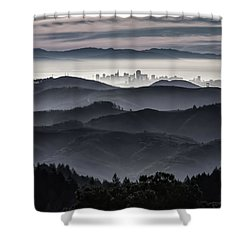 San Francisco Seen From Mt. Tamalpais Shower Curtain