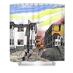 San Francisco Side Street Shower Curtain by Terry Banderas