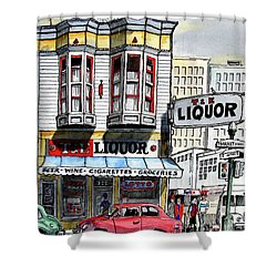 San Francisco Street Corner Shower Curtain
