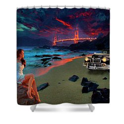 San Francisco Sunrise Shower Curtain