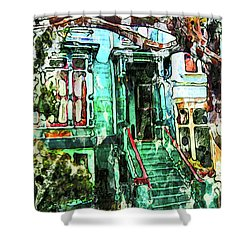 San Francisco Victorian Shower Curtain by Joan Reese