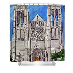 San Francisco's Grace Cathedral Shower Curtain by Mike Robles