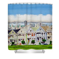 San Francisco's Painted Ladies Shower Curtain