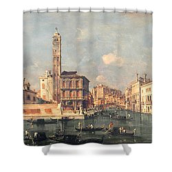 San Geremia And The Entrance To The Canneregio Shower Curtain by Francesco Guardi
