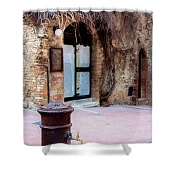 San Gimignano Shower Curtain