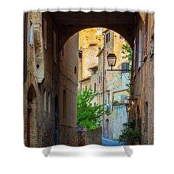 San Gimignano Archway Shower Curtain