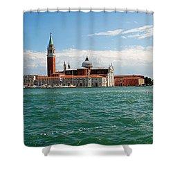 San Giorgio Maggiore Canal Shot Shower Curtain by Robert Moss