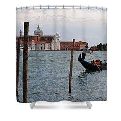San Giorgio Maggiore Gondola Shower Curtain by Robert Moss