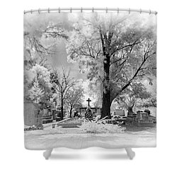 Shower Curtain featuring the photograph San Jose De Dios Cemetery by Sean Foster
