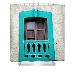 San Jose Del Cabo Window 12 Shower Curtain by Randall Weidner