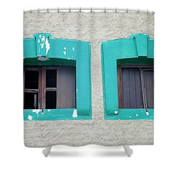San Jose Del Cabo Windows 13 Shower Curtain by Randall Weidner