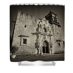 Shower Curtain featuring the photograph San Jose Mission - San Antonio by Stephen Stookey